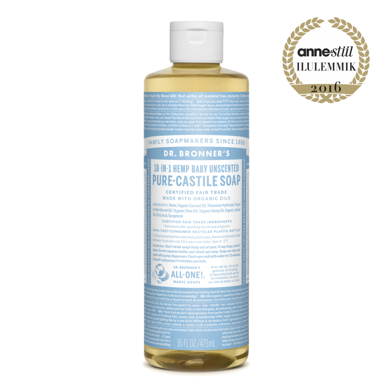 Dr. Bronners Baby Unscented 473 ml