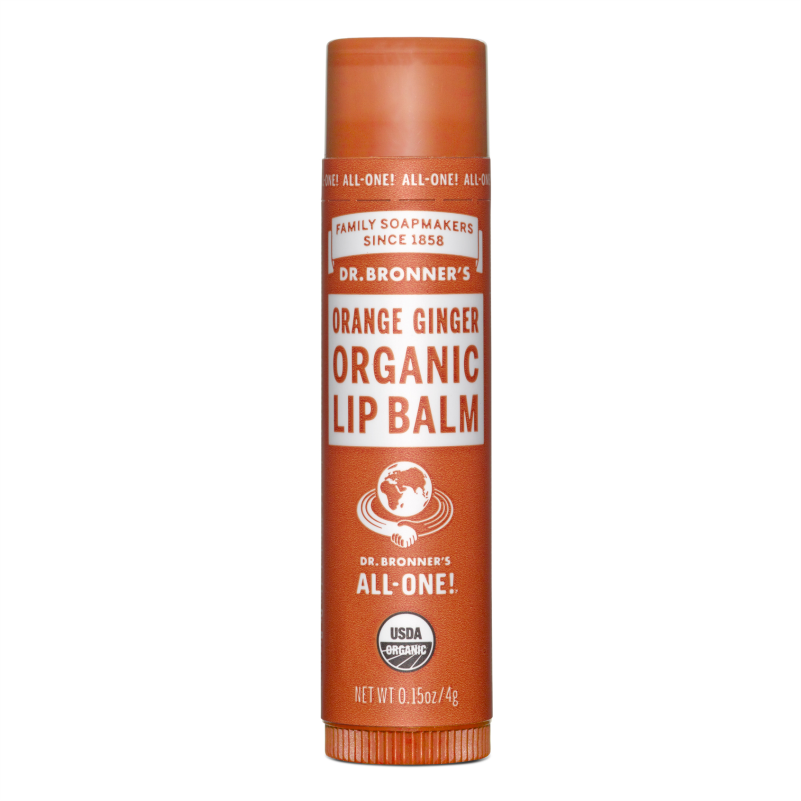 Dr. Bronners Orange Ginger Lip Balm 4 gr