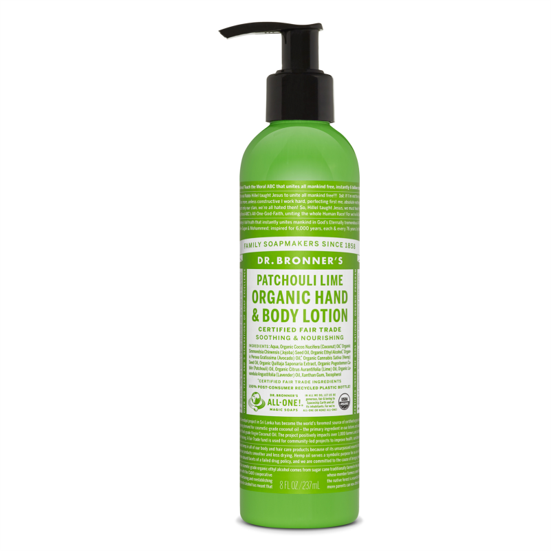 Dr. Bronners Patchouli Lime Body Lotion 237 ml