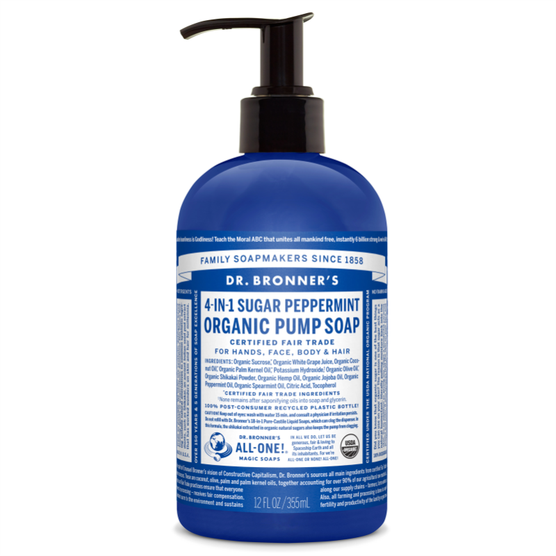Dr. Bronners Peppermint Shikakai 355 ml